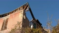 renovating incentive for crumbled buildings with roof gutter house background 73950813