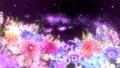 Pastel-style colorful spring flowers loop material 74018843