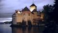 Famous castle Chateau de Chillon at lake Geneva near Montreux. Switzerland. Europe 74059371