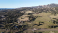 Aerial view of valley with farmland an forest in Julian, California, USA 74086971