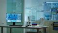 Modern empty biological applied science laboratory 74130277