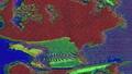 Trendy system error neon sci-fi iridescent background. 74134305