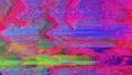 Transforming interference imitation blinking sci-fi iridescent background. 74134307