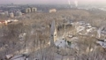 Aerial: The tower of Kaliningrad Puppet Theatre in the wintertime 74162067