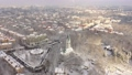 Aerial: The tower of Kaliningrad Puppet Theatre in the wintertime 74162068