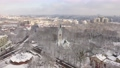 Aerial: The tower of Kaliningrad Puppet Theatre in the wintertime 74162069