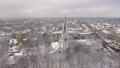 Aerial: The tower of Kaliningrad Puppet Theatre in the wintertime 74162072