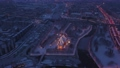 Aerial view of the Cathedral in Kaliningrad in the winter, sunrise time 74162075