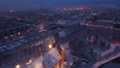 Aerial view of the Cathedral in Kaliningrad in the winter, sunrise time 74162076