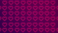 2d animation of neon pink hearts blinking or flashing on blue and purple colors background, seamless looping, Valentine's Day concept design. 74215909