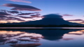 Lake Tanuki and Mt. Fuji timelapse in the early morning 74223259