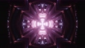 3D cross shaped tunnel with pink light 74225407