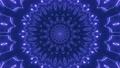 3D neon blue mandala ornament 74225416
