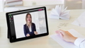 online meeting digital conference woman tablet 74227443