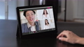 video call online communication colleagues tablet 74227451