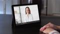 video call internet meeting woman tablet screen 74227466
