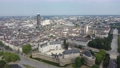 Panoramic aerial view of modern cityscape of Nantes on banks of Loire river on summer day, France 74290386