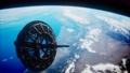 futuristic Space satellite orbiting the earth 74298667