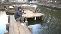 There is a sound of a man fishing in Nokitayama Park 74339151