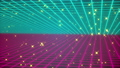 Colored grid and starglow, computer generated. 3d rendering backdrop of retro style 74361668