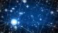 Network Icons Blue Grid Flying Through. Beautiful 3d Animation of Abstract Growing Net Structure with Computers, Phones and Other Devices. Digital Interface. Technology Concept. FullHD Full HD 74389166