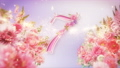 10-second countdown of glittering rose flowers 74454747