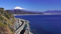 (Shizuoka Prefecture) Mt. Fuji time-lapse seen from Satta Pass, a traffic difficult place 74495131