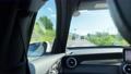 뒷좌석의 차창 영상 국도 주행 74496124