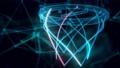 Basketball hoop hologram Close up 4k 74575974
