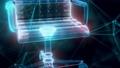 Desk Chair hologram Close up 4k 74575977