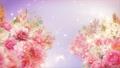 美麗的花園,柔和的粉紅色花朵盛開 74579015