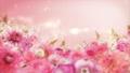 美麗的花園,柔和的粉紅色花朵盛開 74579017