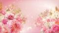 美麗的花園,柔和的粉紅色花朵盛開 74579018