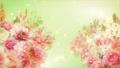 美麗的花園,柔和的粉紅色花朵盛開 74579021