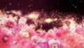 美麗的花園,柔和的粉紅色花朵盛開 74579027
