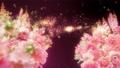 美麗的花園,柔和的粉紅色花朵盛開 74579028