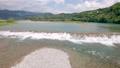 Hata Dam on the Niyodo River in Kochi Prefecture Drone aerial photography Diagonal horizontal slide 74616095