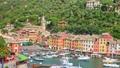 Panoramic view of the village of Portofino in Italian Riviera 74639913
