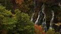 【北海道美瑛町の秋】白ひげの滝と紅葉 10月 74645147
