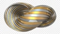捻れた金属のリング。永遠や永久を表すアブストラクト。アルファチャンネル付き。3Dレンダリング。 74656426