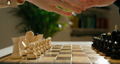 Close Up of Playing Chess Game. Home Activities during quarantine or isolation 74670278