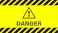 帶有DANGER消息的警告激活圖像可告知您危險 74680471