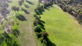 Aerial view over golf field. 74680664