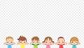 만세를하고 기뻐하는 귀여운 아이들의 애니메이션 루프 배경 투명 알파가있는 채널 74698984