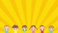 可愛的孩子們很高興做banzai燈光慶典循環副本空間的動畫 74698987