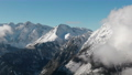 Scenic Aerial View of High Mountains Peaks Range. Epic Landscape in Winter Day 74768210