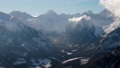 Scenic Aerial View of High Mountains Peaks Range. Epic Landscape in Winter Day 74810793