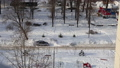 Residential area of Moscow on a sunny winter day after heavy snowfall, Russia 74835701