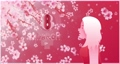 Happy International Women's Day on March 8th design background. Sweet girl watching the cherry blossoms fall. Female gender symbols and happy women's day 2021 letter. 4K 3D loop animation 74909152