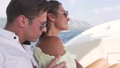 Young beautiful couple enjoy life on a yacht 74947443